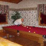 pool table in the loft