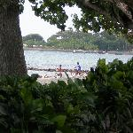 Children on the beach at Reefseen