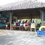 Children dancing in the bar area