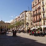 Placa de la Font Square, hotel on extreme right