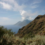 View from Lipari on other island