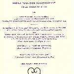 special dinner celebration menu
