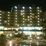 pool side of trakia plaza at night