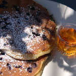 Blueberry pancakes at Rochester cafe,VT
