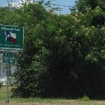Texas Welcome sign at State Line Avenue