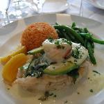 Stuffed Sole with Fresh Crab was Yummy!