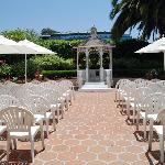 Courtyard is used for weddings