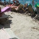 crammed beach at weekend