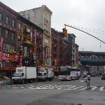 Street outside Hotel 91, it's on the left side near the bridge