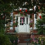 Front of the house on Fourth of july