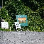 signs for the hostel on the main road