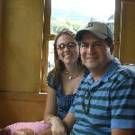"""Us"" on the Cog Railway...up the mountain"