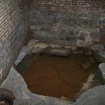 The spring that runs through the basement area