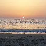 levé de soleil, plage de l'hôtel