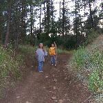 Hiking on the Rainbow Lake RV & Resort trails.