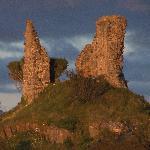 Castle Maol Ruins, across the harbour