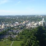 Look at 1:00 position from  top of Ferris Wheel for view of back of hotel from the Skylon Tower