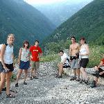 Satisfied hikers