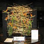 Flower arrangement art in the lobby