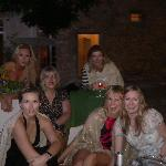 Pre dinner drinks outside the Chateau