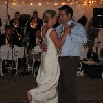 Wedding dance in the tent