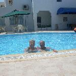 us in hotel pool