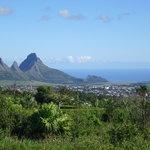 Vista panoramica vicino al vulcano