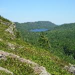 This is a view of the Lake of the Clouds from the Big Carp River trail