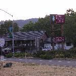7 am outside the motel