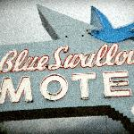 Fanous Rt. 66 sign- Blue Swallow Motel