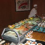 Sushi buffet @ midori restaurant