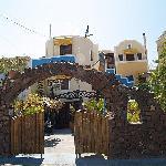 The front of Argonaftes Villa