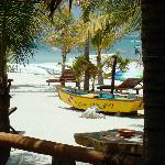 The beach from the bar