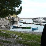 Me looking across the marina