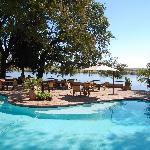 The pool to the Zambezi River.