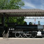 Steam locomotive outside the museum