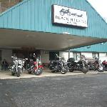 Blackhills Inn, owner allowed us to park our bikes under the awning.