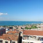 Blick vom Speisesaal uafs Marmarameer