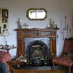 Fireplace in the sitting room