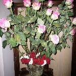Typical bouquet of roses