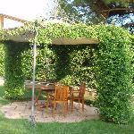 Ein schattiger Platz mittem im Garten