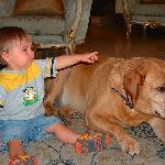 Luke the Pet Relations Director and my son