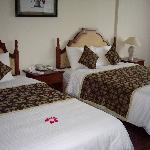 Deluxe room with rose petals