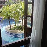 the pool view from our room