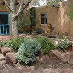 Old Town B&B garden & door to the Garden Suite
