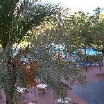View from our room down to the pool and entertainment area