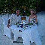 dinner on desert island