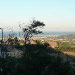 View from the road towards the Adriatic