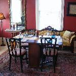 The dining room at Inn at 22 jackson