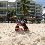 Our boys had plenty of space on the white sandy beach